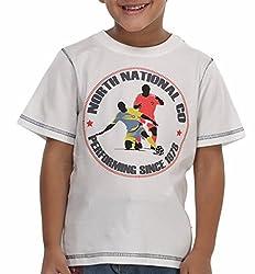 Trmpi White Football T-Shirt for Boys (2-10 Yrs)