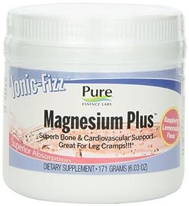 Pure Essence Ionic-fizz Magnesium Plus, Raspberry Lemonade, 171-Grams