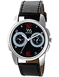 Watch Me Formal Black Watch With Black Leather Strap For Men And Boys -229twm