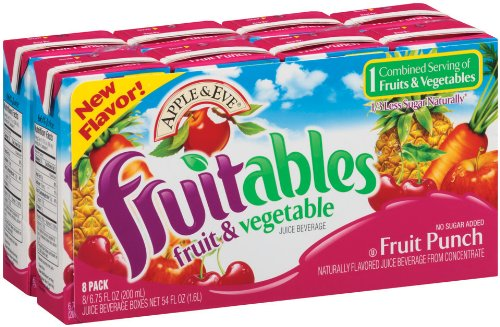 Apple & Eve Fruitables, Fruit Punch 6.75 Fl Oz, 8 Count (Pack Of 5)