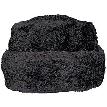 Vermont Collection - Women's Zoya Tort, Faux Fur Hat, Black