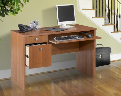 Buy Low Price Comfortable Nexera Essentials 48-Inch Computer Desk with File Drawers – Cappuccino (B0050JCSMY)