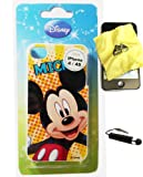 BUKIT CELL Disney ® Mickey Mouse HARD BACK PIECE Faceplate Protector Case Cover (Disco Mickey Mouse!!) for Apple iPhone 4S / 4G / 4 (Fits any carrier AT&T, VERIZON AND SPRINT) + Free WirelessGeeks247 Metallic Detachable Touch Screen STYLUS PEN with Anti Dust Plug