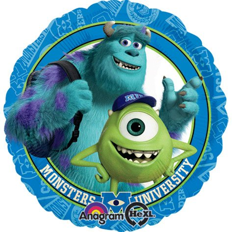 "Monsters University Mike & Sulley 17"" Mylar Balloon Birthday Party"