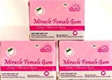 3 Boxes - MIRACLE FEMALE GUM - Miracle Mint Gum - Happy Wife Happy Life - Aphrodisiac 5 Minutes