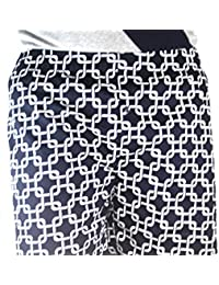100% Cotton Boxer Shorts Blue Chain Lock White Color Boxer (Pack Of 1)
