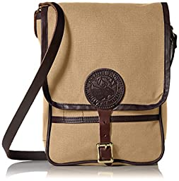Duluth Pack Haversack with Leather Trim, Khaki, 11 x 8 x 4-Inch
