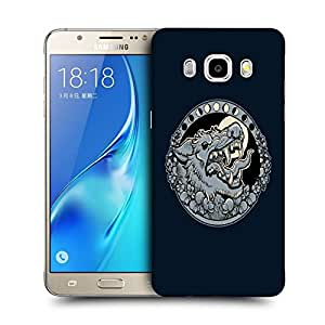 Snoogg Grey Wolf Roaring Designer Protective Back Case Cover For SAMSUNG GALAXY J7 2016 J710X