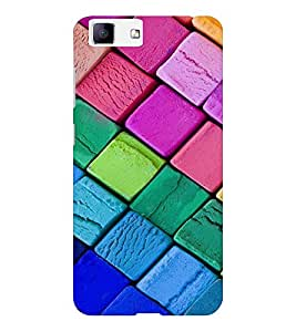 EPICCASE Colorful Chalk Pattern Mobile Back Case Cover For Vivo X5 (Designer Case)