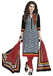 CHINTAN TEXTILES Ethnicwear Women's Dress Material(Grey_Free Size)