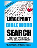 img - for Large Print Bible Word Search Volume 1: 100 Bible Related Word Search Puzzles book / textbook / text book
