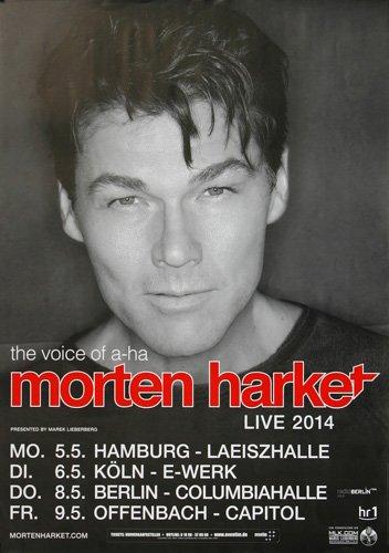 Morten Harket ( a-ha ) - Live 2014 - Concert Poster Plakat