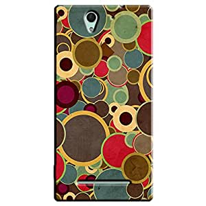MULTI DOTS BACK COVER FOR SONY XPERIA C3