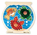 518eJNmOKBL. SL160  Melissa &amp; Doug Deluxe Fish Bowl Jumbo Knob Puzzle