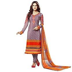 Bhelpuri Women Violet French Crepe Dress Material