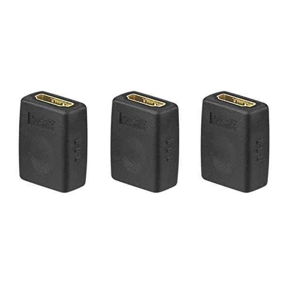 VCE 3 Pack HDMI Female To Female Coupler Gold Plated High Speed HDMI Female Adaptor (Color: Micro HDMI to HDMI)