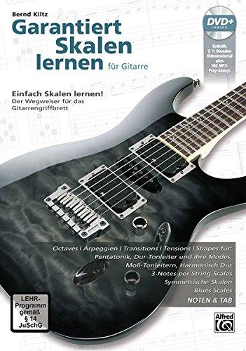 Garantiert Skalen Lernen für Gitarre [Guaranteed Learn Scales for Guitar] German Language Edition, Book & DVD  [Kiltz, Bernd] (Tapa Blanda)