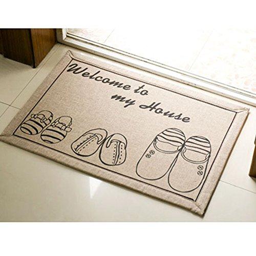 E.a@market Door Mat Kitchen Mats Bathroom Mat Hallway Mat 16*24 Inch/40*60cm (3 pairs shoes)