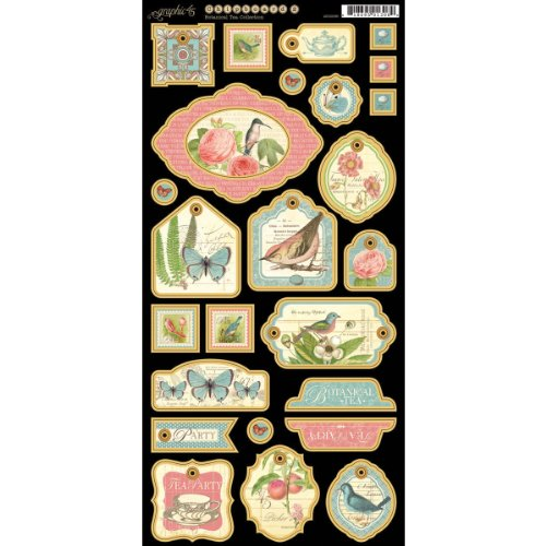 Graphic 45 Botanical Tea Chipboard-2