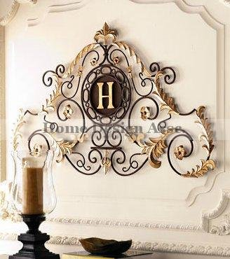Personalized Embossed Letter Monogram Metal Wall Art