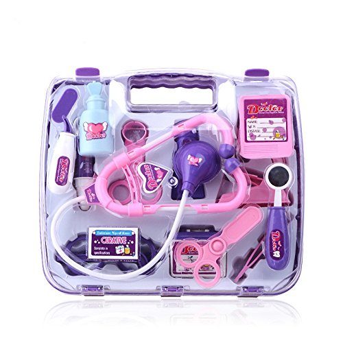 Vidatoy Doctor Nurse Medical Kit Playset With Medical Box-Purple (Medical Goods compare prices)
