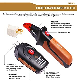 Southwire Tools & Equipment 41210S Circuit Breaker Finder Kit with GFCI Test