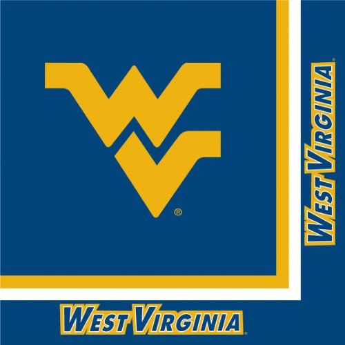 Creative Converting West Virginia Mountaineers Luncheon Napkins (20 Count)