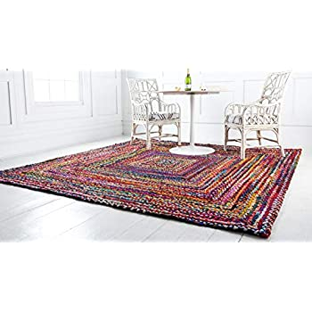 Unique Loom 3142669 Area Rug, 8 x 8 Square, Multi