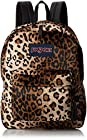 JanSport High Stakes Backpack - Black/Beige Plush Cheetah / 16.7H x 13W x 8.5D