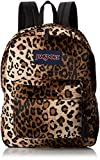JanSport High Stakes Backpack - Black Beige Plush Cheetah 16.7 H x 13 W x 8.5 D