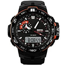 buy Fashion Sports Men Electronic Digital 5Atm Waterproof Outdoor Oversized Watches Skmei 1081 Orange