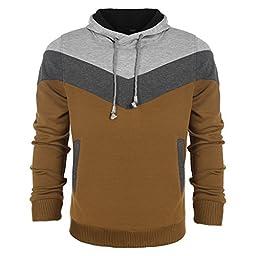 Coofandy Men\'s Oblique Zipper Thicken Hoodie Casual Sweatshirts Slim Fit Jacket (Small, Gray 2)