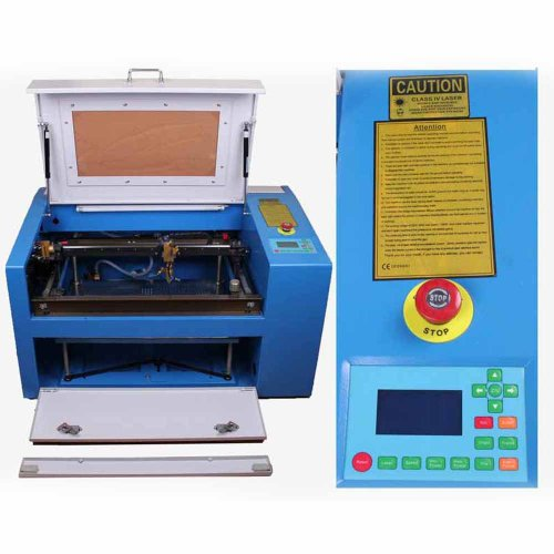 Generic 50W Co2 Laser Engraving Cutting Machine Laser Engraver With Auxiliary Potary Device Up & Down Platform Duty Free front-607157