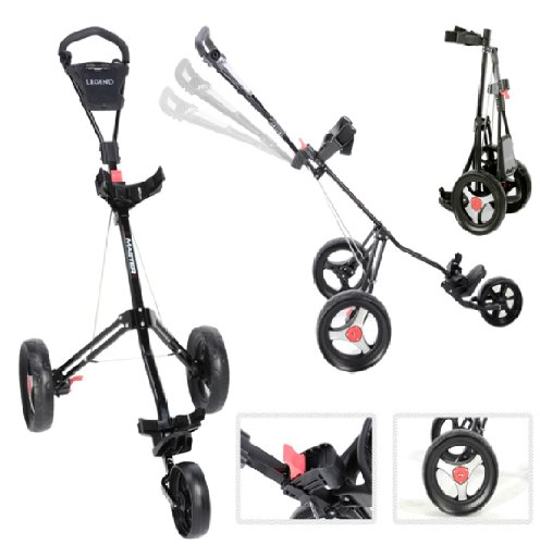Legend Tri Master Deluxe 3 Wheel Golf Trolley (Black)