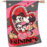 Valentine's Day Flag: Disney Vintage Mickey by The Hamilton Collection