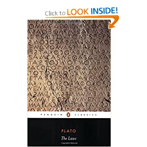 The Laws (Penguin Classics) by Plato, Trevor J. Saunders and Richard Stalley