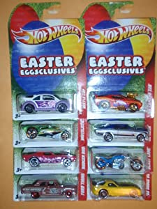2011 Hot Wheels EASTER EGGSCLUSIVES Complete Set of 8 #1: Blast Lane #2: Brutalistic #3: 1969 Camaro Z28 #4: 2008 Dodge Viper SRT10 ACR #5: Ford Thunderbolt #6: 1968 Nova #7: Rodger Dodger #8: Volkswagen New Beetle Cup