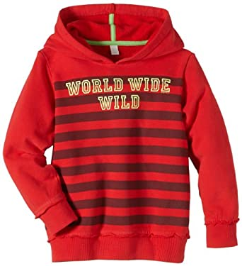 ESPRIT - mit Streifen und Print 054EE8J002 Sweat-shirt à capuche Garçon - Rouge (COOL RED 618) - FR : 24 mois (Taille fabricant : 92)