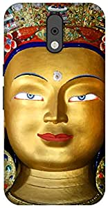 The Racoon Lean printed designer hard back mobile phone case cover for Motorola Moto G Plus 4th Gen. (buddha in)