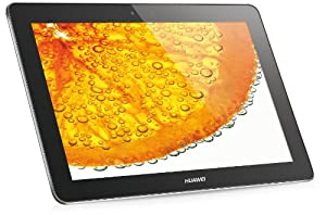 Huawei MediaPad 10 FHD 25,4 cm (10 Zoll) Tablet (Quad-Core K3V2, 1,2GHz, 1GB RAM, 8GB HDD, Touchscreen, Android 4.0, Wifi, 1,3 Megapixel Kamera) silber
