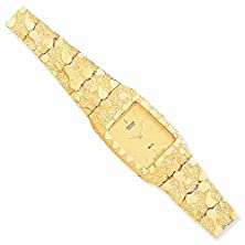 buy 10K Champagne 27X47Mm Dial Square Face Nugget Watch, Best Quality Free Gift Box Satisfaction Guaranteed