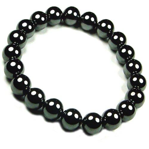 Men's Magnetic Hematite Round Bead Bracelet - 8.5