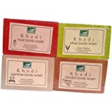 Khadi Mauri Jasmine Khas Rose Sandal Soaps Pack Of 4 Herbal Ayurvedic Natural