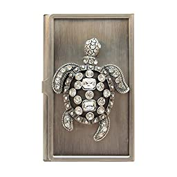 All For Giving Sea Turtle Business Card Carrying Case, Pewter