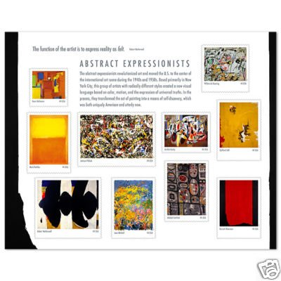 Abstract Expressionists 5 sheets 50 x 44 cent us stamps