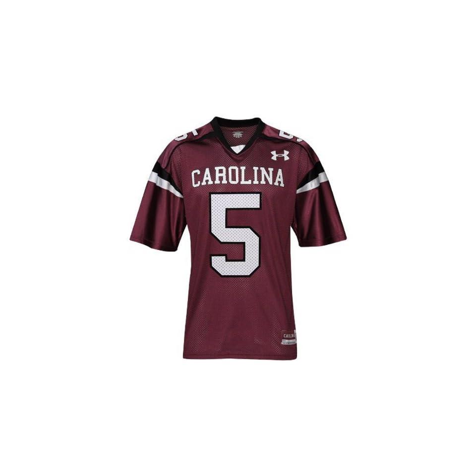 Under Armour South Carolina Gamecocks #5 Garnet Replica Football Jersey