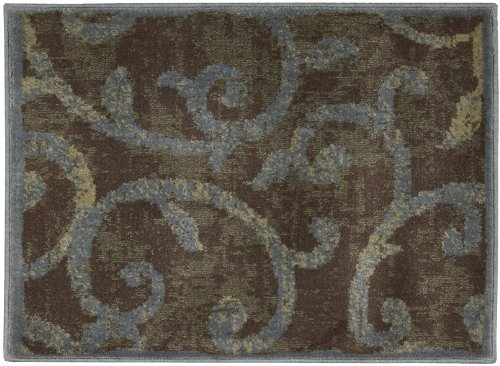 Nourison Interpretations Multicolor Floral 2-Feet by 2.9-Feet Polyacrylic Area Rug