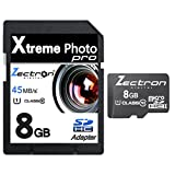 8GB Micro Class 10 SD SDHC High Speed Zectron Digital Camera Memory Card for Kodak EasyShare M1033 digital Camera Camcorder Video