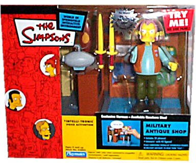 Picture of Playmates Simpsons - World of Springfield Interactive Enviroment - Military Antique Shop w/exclusive Herman figure (B001RE64DK) (Military Action Figures)