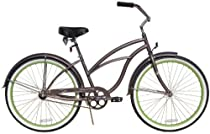 "Beach Cruiser Bicycle Woman 26"" - Firmstrong Urban Lady Boutique Single Speed (1sp) (Silvareen - Charcoal)"